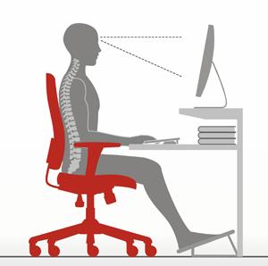 Postura na Cadeira Ergonômica