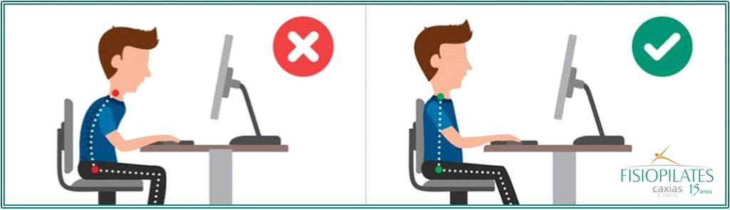Postura correta ao usar o computador