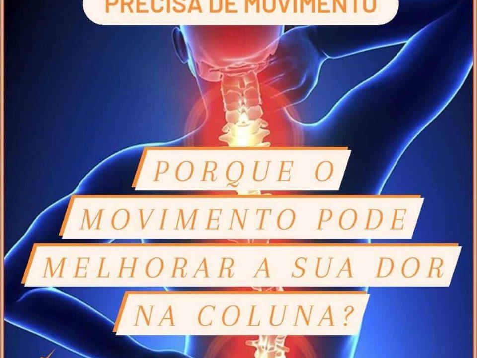 O movimento melhora a sua dor na coluna